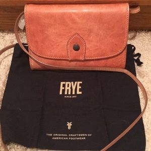 NWT FRYE Melissa wallet crossbody leather bag rose